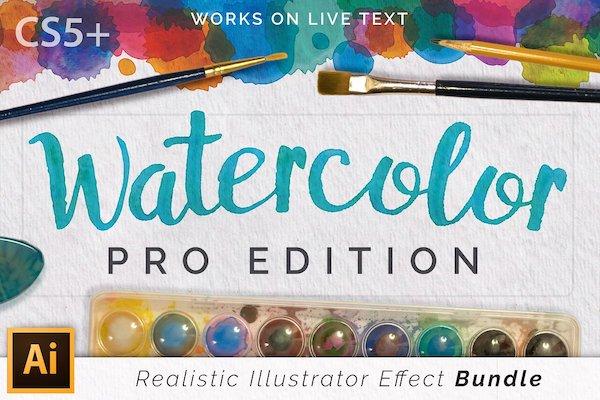 Watercoloor Pro Effects Illustrator