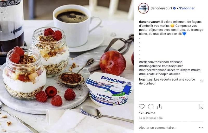 Produit e-commerce Instagram