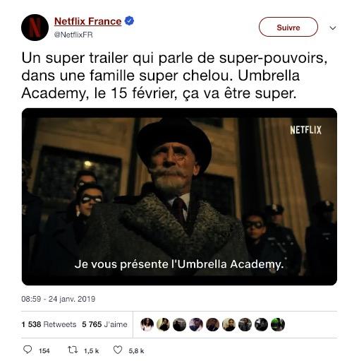 Promotion Netflix