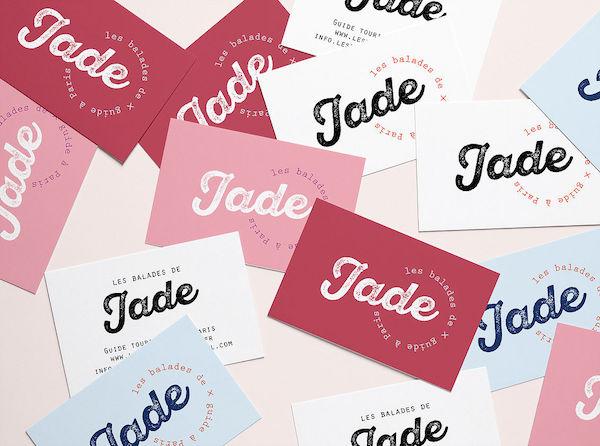 Carte de visite Les balades de Jade