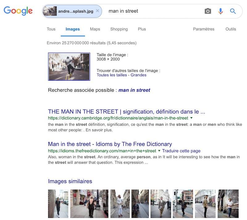Google recherche image