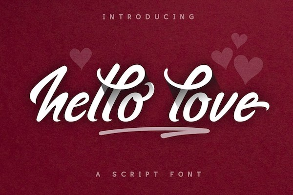 Typographie Hello Love