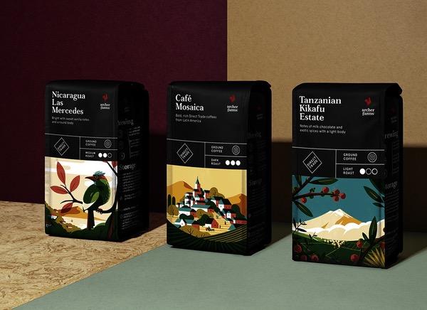 Packaging illustration café