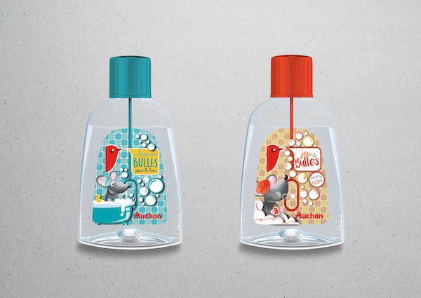 Packaging illustration bain moussant