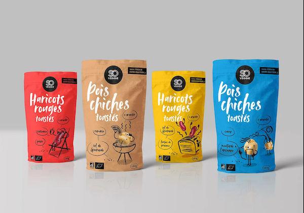 Packaging food illustration