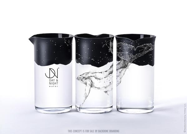 Packaging baleine illustration