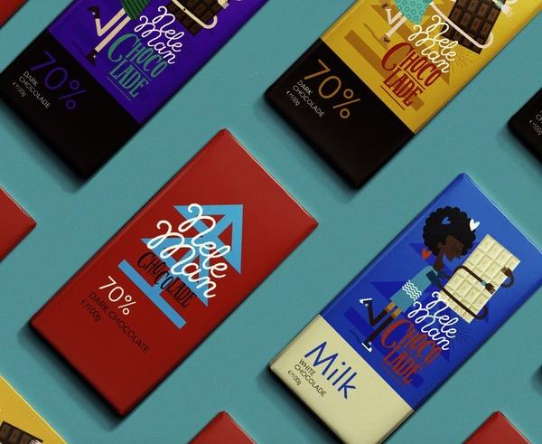 Packaging illustration chocolat
