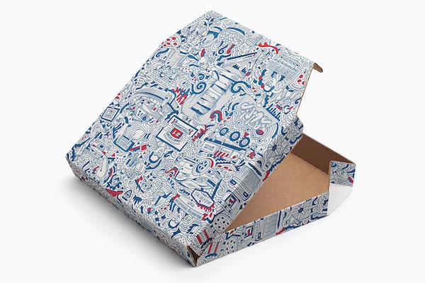 Packaging illustration pizza