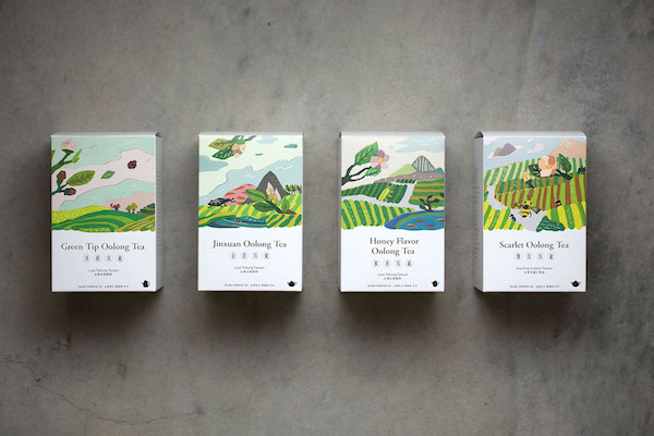 Packaging thé illustration