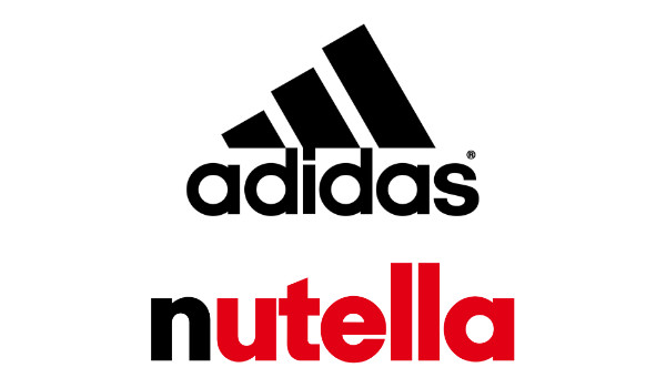 Typographie Nutella et Adidas