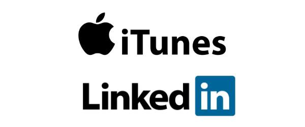 Typographie iTune et LinkedIn