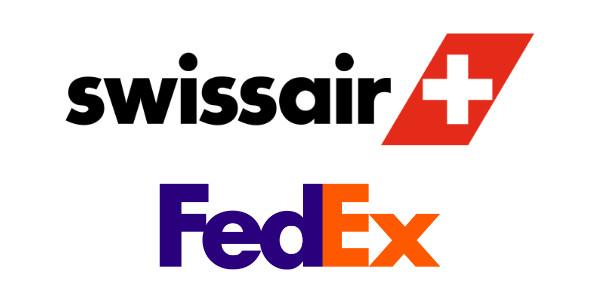 Typographie Swissair Fedex