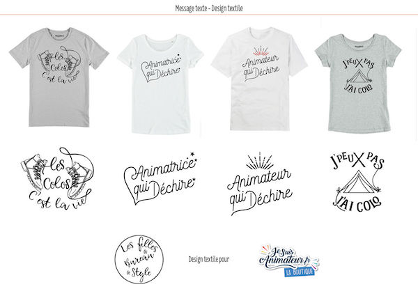 Typographie t-shirt