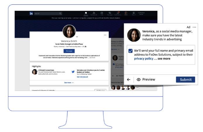 Publicité LinkedIn téléchargement