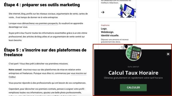 Publicité pop-up