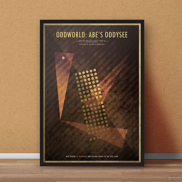 Affiche minimaliste dorée