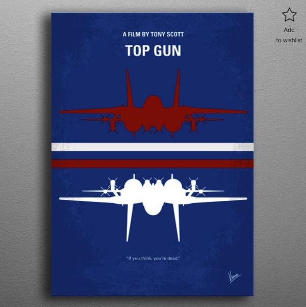 Affiche minimaliste Top Gun