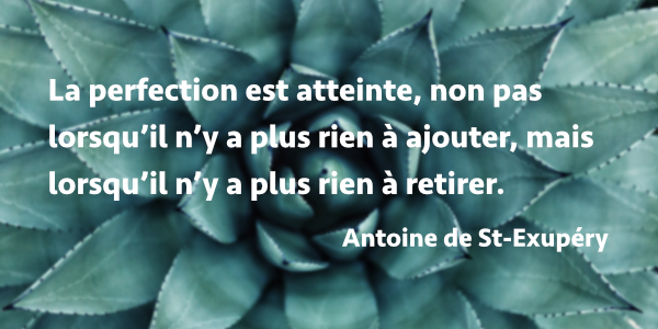 Citation Antoine de St Exupéry