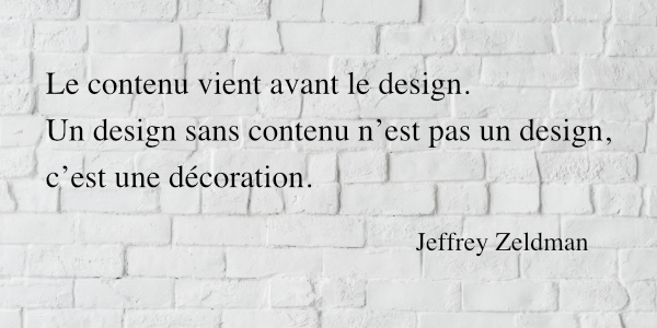 Citation Jeffrey Zeldman