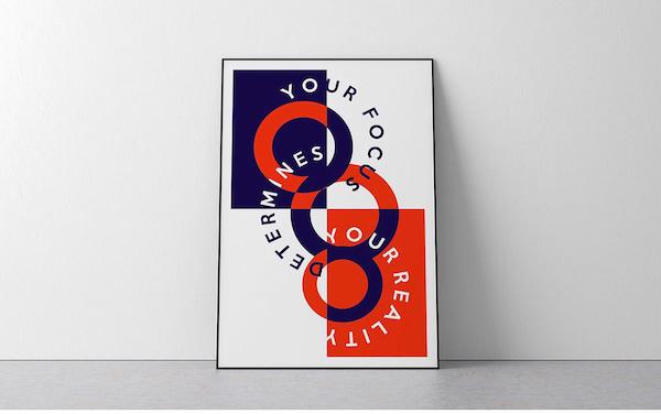 Lecture affiche typographique