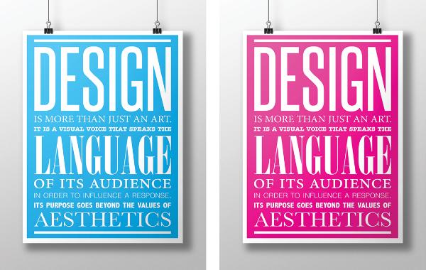 Mise en page affiche typographique
