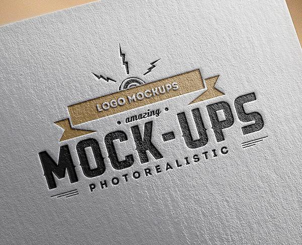 Mockup papier logo