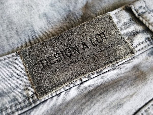 Mockup logo textile jean