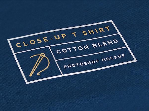 Logo mockup tissu