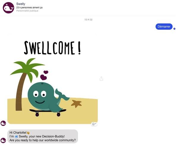 Message de bienvenue chatbot