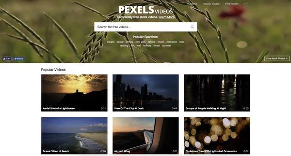 Pexels vidéos