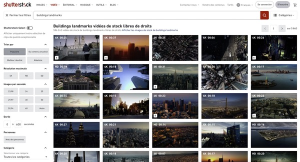 Shutterstock vidéos