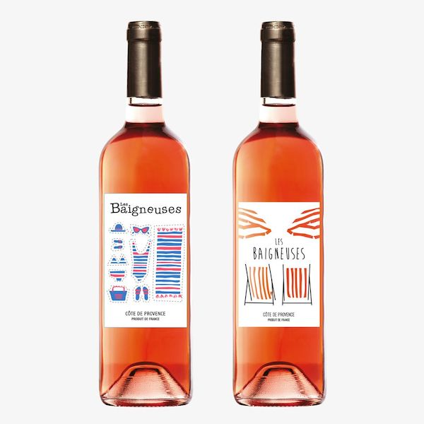 Etiquette de vin moderne