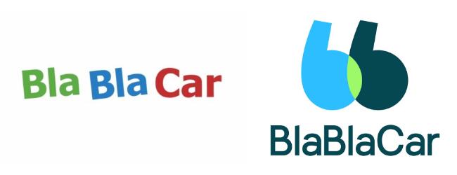 Évolution du logo Blablacar