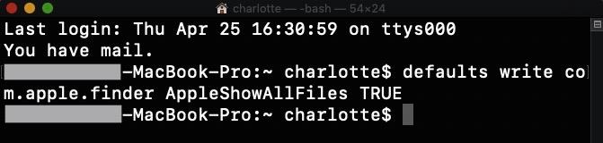 Fichiers cachés sous Mac