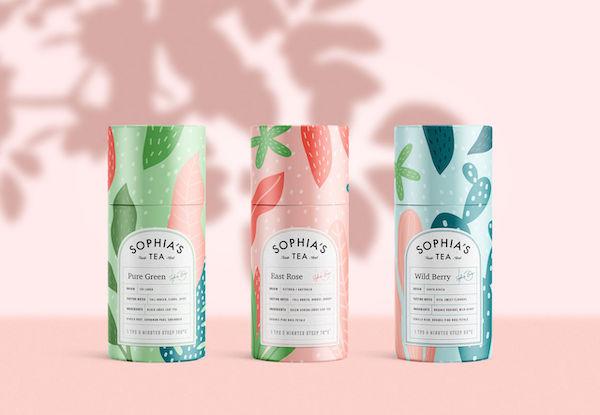 Packaging illustrations colorées