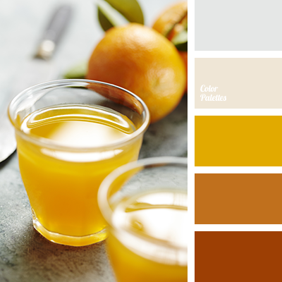 Palettes couleurs jaune