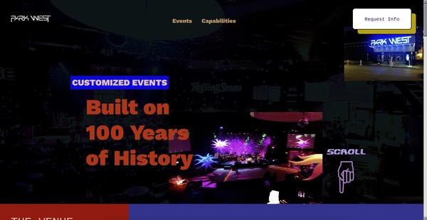 Park West Events site retro