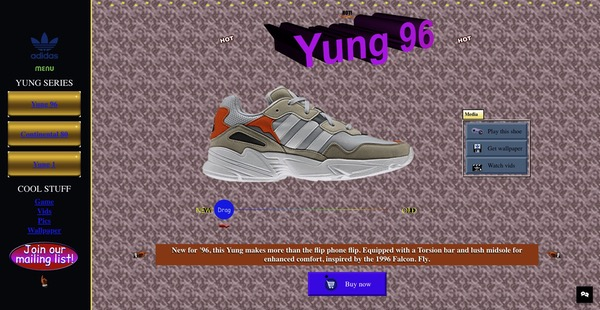 Site Adidas rétro