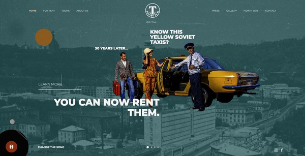 Taxi soviétique, site web rétro