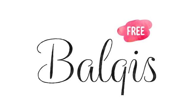 Typographie Balqis