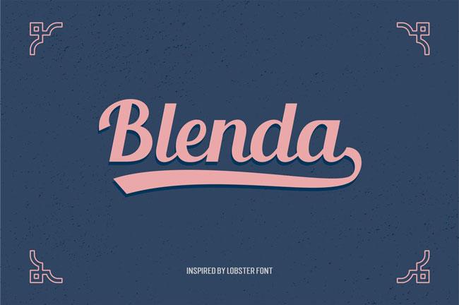 Typographie Blenda