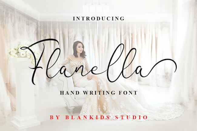 Typographie Flanella