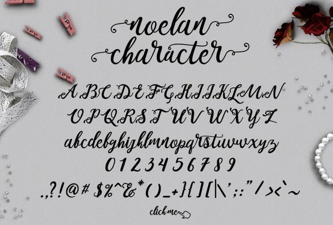 Typographie Noelan
