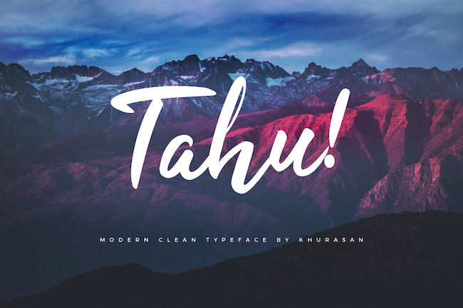 Typographie Tahu