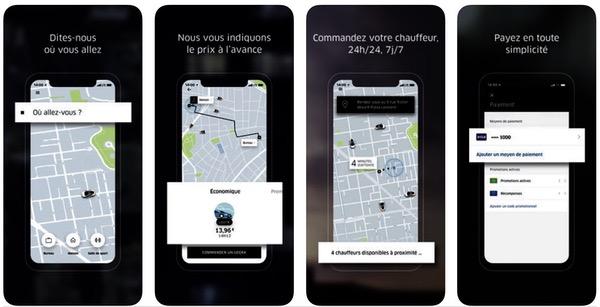 Uber menu hamburger