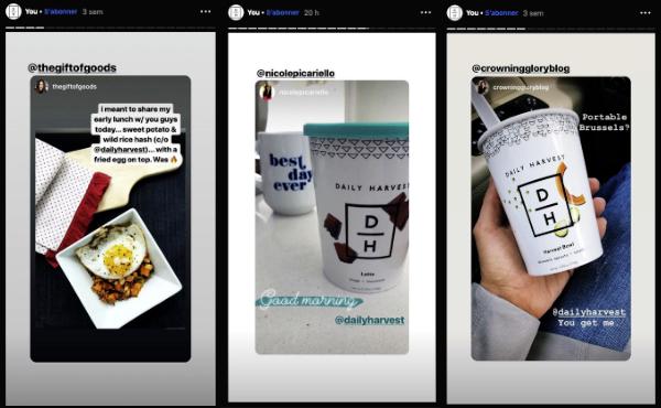 Instagram story contenu abonnés