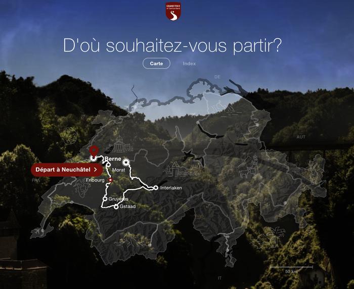 Contenu interactif carte