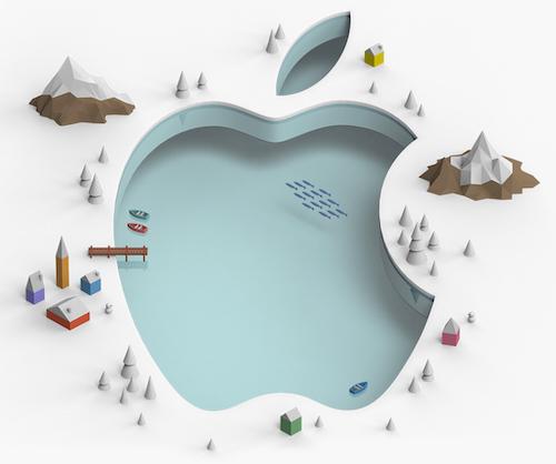 Logo Apple paysage