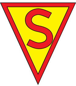 Logo triangulaire Superman