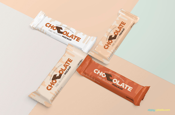 Mockup barre de chocolat